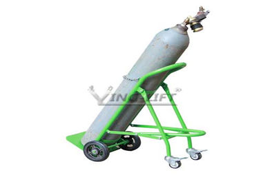 Fold Down Single Double Gas Cylinder Hand Truck Trolley With Restraining Strap